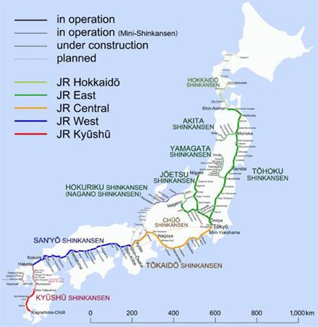 Shinkansen lines